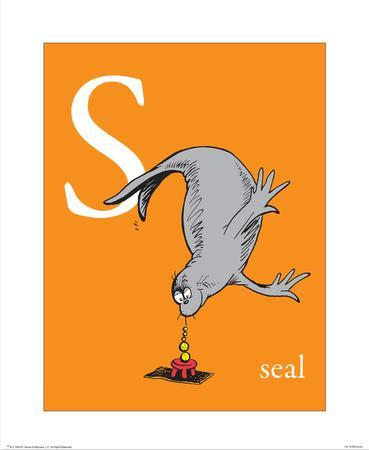 S is for Seal (orange)