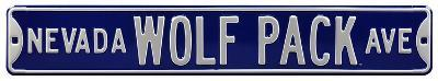 Nevada Wolf Pack Ave Steel Sign