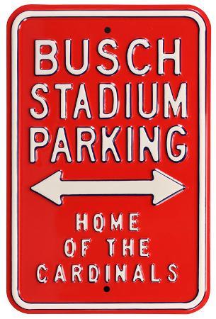 Busch Stadium Home Cardinals Parking Steel Sign