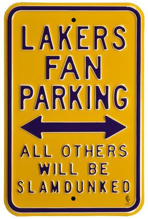 Lakers Slam Dunked Parking Steel Sign