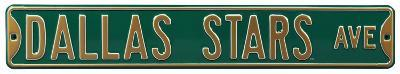 Dallas Stars Ave Steel Sign