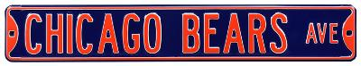 Chicago Bears Ave Steel Sign
