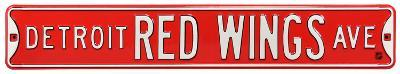 Detroit Red Wings Ave Steel Sign