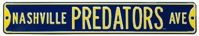 Nashville Predators Ave Steel Sign