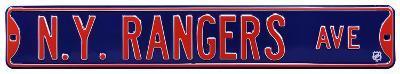 NY Rangers Ave Steel Sign