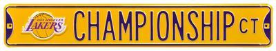 Lakers Championship Ct Steel Sign