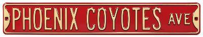 Phoenix Coyotes Ave Steel Sign