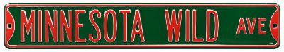 Minnesota Wild Ave Steel Sign