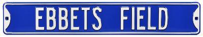 Ebbets Field Dodgers Steel Sign
