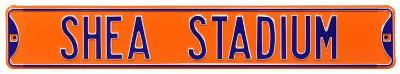 Shea Stadium Orange Steel Sign