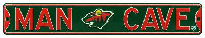 Man Cave Minnesota Wild Steel Sign