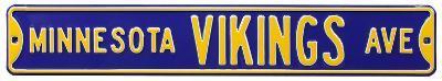 Minnesota Vikings Ave Steel Sign