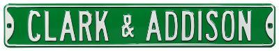 Clark & Addison Cubs Steel Sign