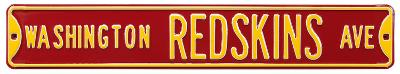 Washington Redskins Ave Steel Sign