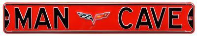 Man Cave Corvette C6 Steel Sign