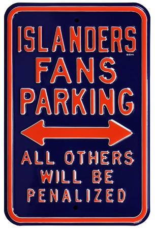 Islanders Penalized Parking Steel Sign