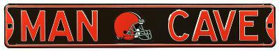 Man Cave Cleveland Browns Steel Sign