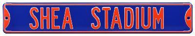 Shea Stadium Blue Steel Sign