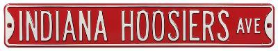 Indiana Hoosiers Ave Steel Sign
