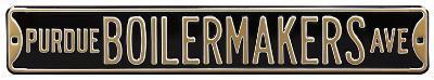 Purdue Boilermakers Ave Steel Sign
