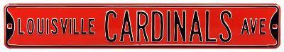 Louisville Cardinals Ave Steel Sign