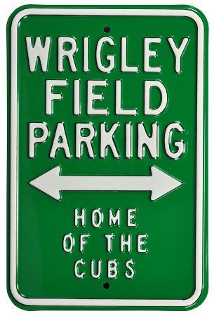 Wrigley Field Home Cubs Parking Steel Sign