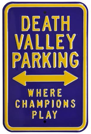 Death Valley Champions Parking Steel Sign