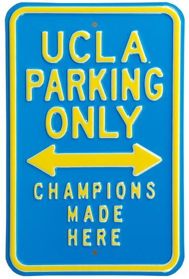 UCLA Fans Champions Parking Steel Sign