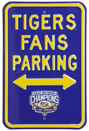 LSU Tigers Champs Parking Steel Sign