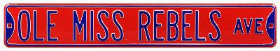 Ole Miss Rebels Ave Steel Sign