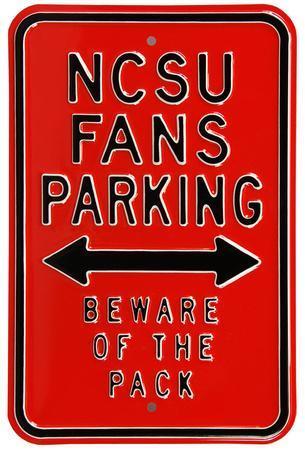 NCSU Fans Parking Steel Sign