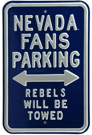 Nevada Fans Rebels Towed Parking Steel Sign