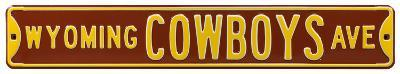 Wyoming Cowboys Ave Steel Sign