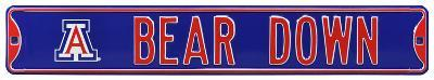 Bear Down with Arizona Logo Steel Sign