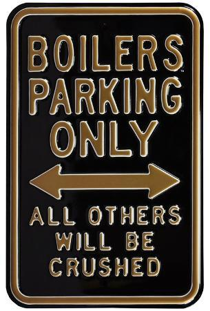 Boilers Crushed Parking Steel Sign