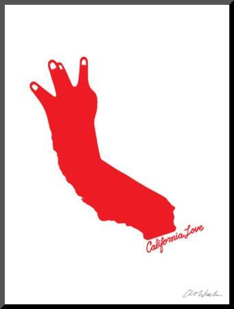 California Love (red on white)