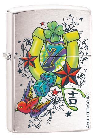 As Luck Would Have It - Brush Chrome Zippo Lighter