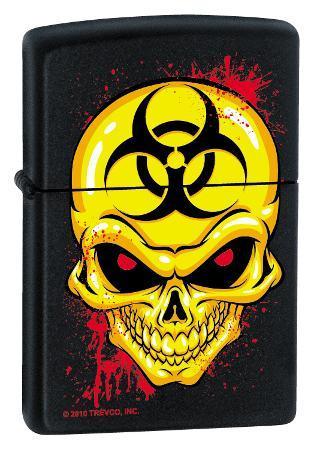 Biohazzard Skull - Black Matte Zippo Lighter