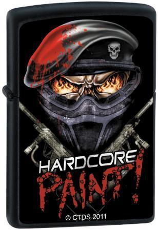 CT Hardcore Paint - Black Matte Zippo Lighter