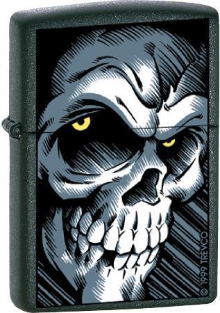 Big Skull - Black Matte Zippo Lighter