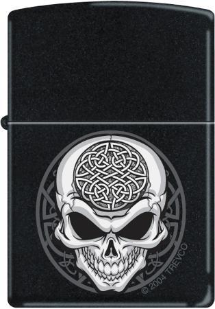 Celtic Skull - Black Matte Zippo Lighter