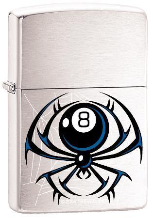 8 - Ball Spider - Brush Chrome Zippo Lighter