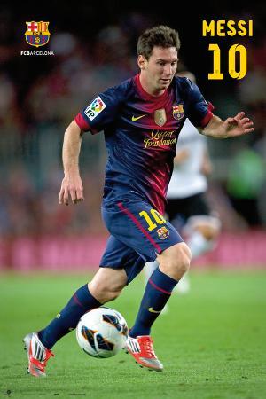 FC Barcelona - Lionel Messi Action Poster