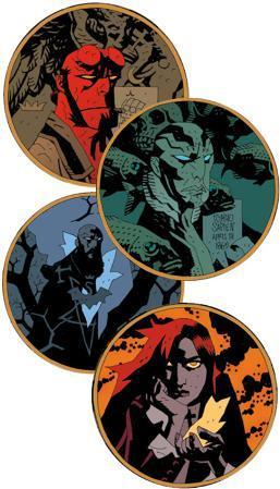 Hellboy Art Coaster Set
