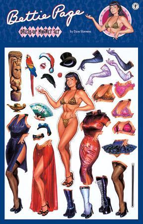 Bettie Page Dress Up Magnet