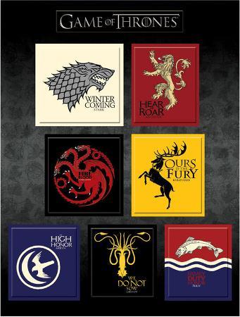 Game Of Thrones - House Sigil Magnet Set