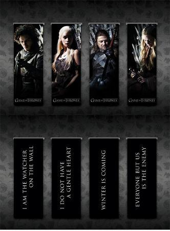 Game Of Thrones - Magnetic Bookmark Set