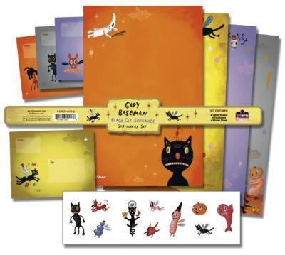 Gary Baseman - Black Cat Stationery