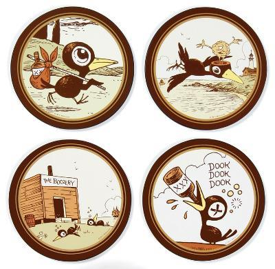 Tony Millionaire - Drinky Crow Coaster Set
