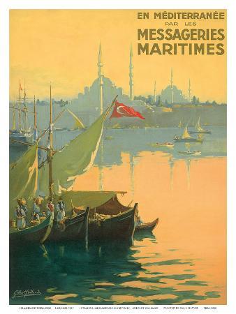 Istambul Messageries Maritimes c.1925